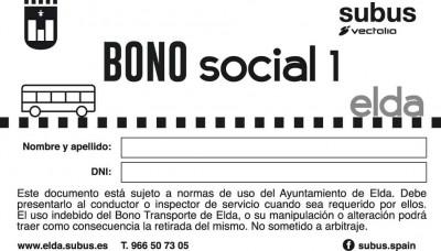 Bono social autobús Elda