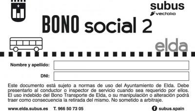 Bono social 2 autobús Elda