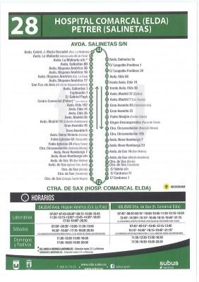 Línea 28 bus Elda
